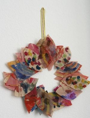 autumn leaf wreath for kids